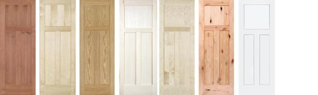 3 Panel Doors (Mission / Shaker) For part numbers and sizes of door click on species name (above door).  sc 1 st  American Hardwood & AHP Wood Doors