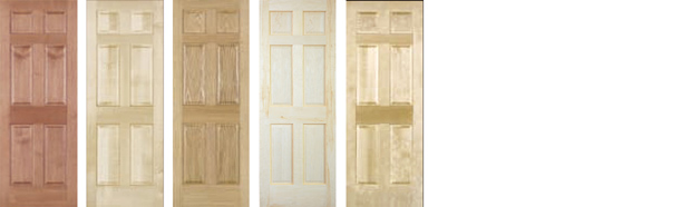 6 Panel Doors For part numbers and sizes of door click on species name (above door).  sc 1 st  American Hardwood & AHP Wood Doors