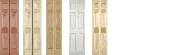 Bi Fold Doors And Pantry Doors Cherry Maple Red Oak Poplar White Birch  Knotty Alder Knotty Alder V Primed